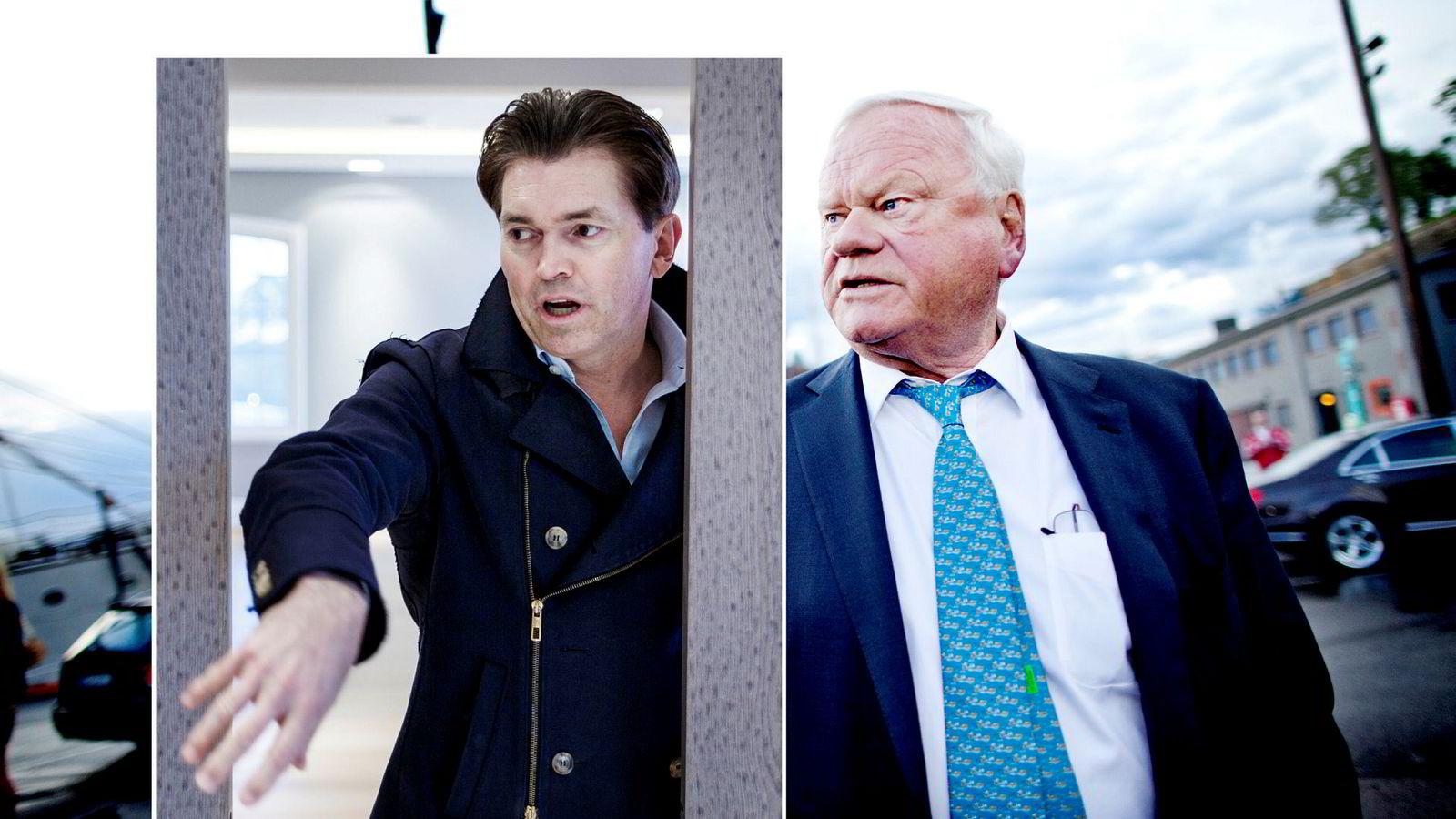 Investor Arne Fredly (innfelt) og skipsreder John Fredriksen nyter godt av tankoppturen.