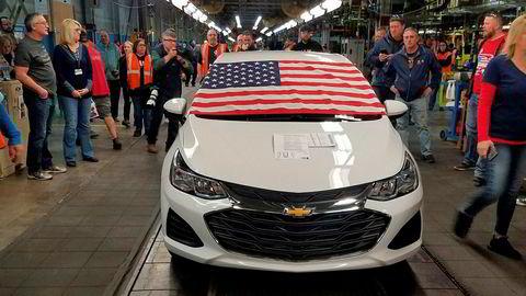 Her ruller den siste Chevrolet Cruze ut av General Motors' fabrikk i Lordstown, Ohio tidligere denne måneden. Fabrikken skal legges ned, men nå er det kanskje nytt håp.