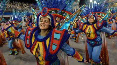 BRASIL: Karneval-opptog i Sao Paulo, Brasil. Foto: Nelson Almeida/AFP Photo/NTB scanpix