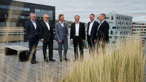 I 2014 startet denne gjengen opp Capeomega. Nå selger de med en gevinst på to milliarder kroner. Fra venstre Alf Thorkildsen, Gunnar Halvorsen, Svein Spanne, Frode Losnedal, Robert Farestveit og Lars Pamer.