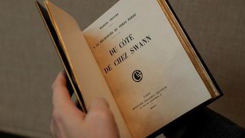 Originalteksten av «Veien til Swann», her fra en auksjon i fjor.