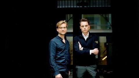 Gustav Magnar Witzøe (24) (til høyre) investerer millioner i selskapet Key Butler (tidligere Lotel), som ledes av gründer Oscar Hellenes (til venstre).