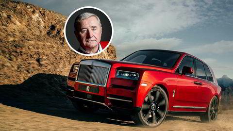 Christen Sveaas er den første nordmannen som har registrert en Rolls-Royce Cullinan. Bilen er faktisk rød – som denne.