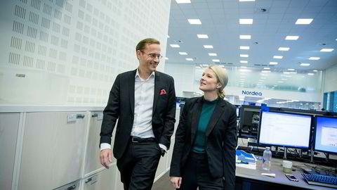 Nordeas norske sjef Snorre Storset vil låne ut mer til bedriftene. Både han og strateg Sigrid Wilter Slørstad i Nordea Wealth Managament tror dessuten på børsoppgang fremover.