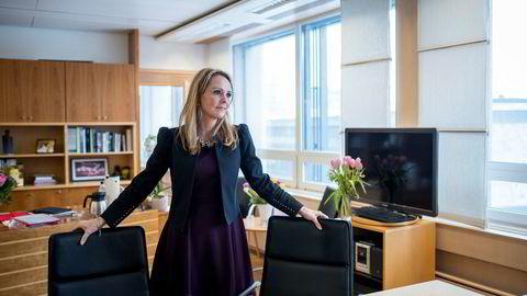 Næringspolitisk talsperson i Høyre, Linda Hofstad Helleland, vender tommelen ned for innføring av en ny skatt på havbruk.