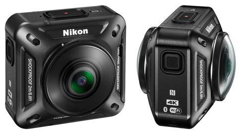 Nikon kaster seg inn på markedet for actionkamera med KeyMission 360 som kan filme helt rundt brukere. Filmene kan brukes i VR-opplevelser. Foto: Nikon