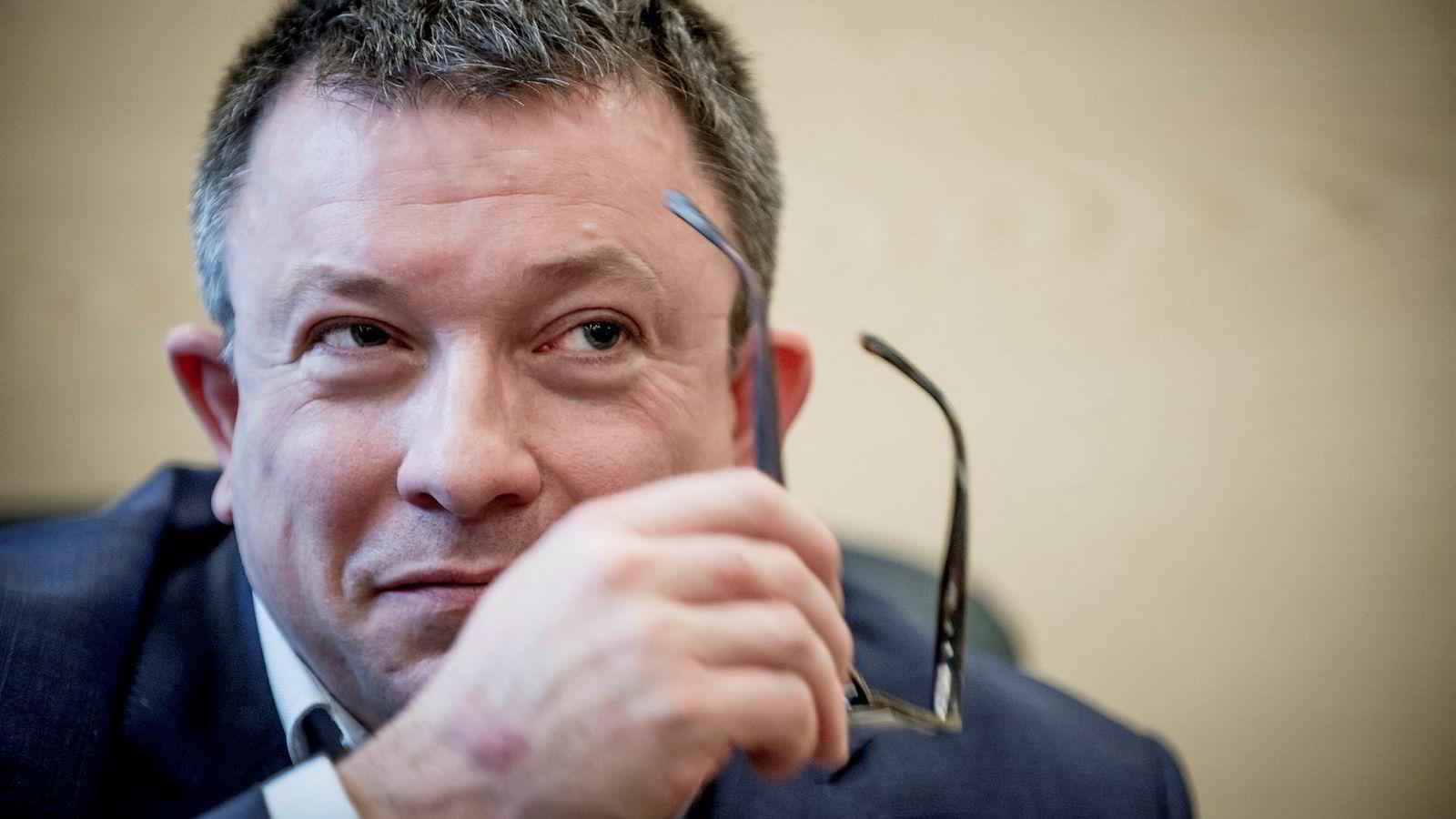 Aker BP-sjef Karl Johnny Hersvik la mandag frem et driftsresultat på 219 millioner dollar for tredje kvartal.