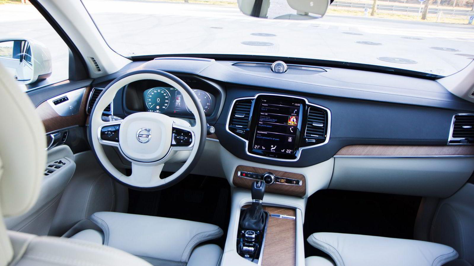 Førermiljøet i Volvo XC90 imponerer på alle måter.