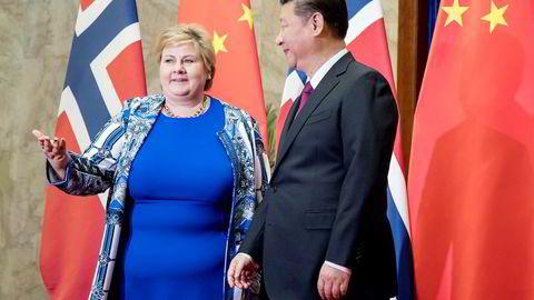 Erna Solberg og Xi Jinping synger fra samme noteark, skriver Erik Solheim.