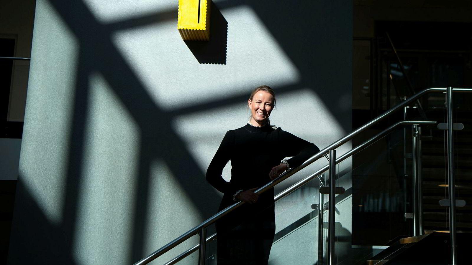 Caroline Johansen er banksjef i Storebrand. Fra torsdag vil finanskonsernet tilby historiske lave fastrenter på sine langtidslån.