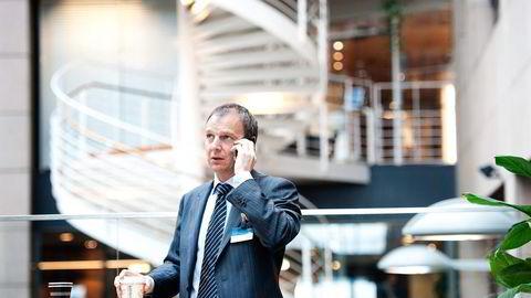 GLAD FOR AT DET BREMSES. Odinfondenes investeringsdirektør Jarle Sjo støtter ikke budet på Vizrt. Foto: Per Ståle Bugjerde