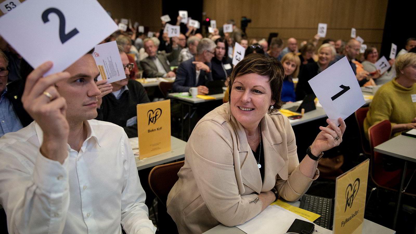 Fylkesleder i Rogaland KrF, Oddny Helen Turøy, sier hun ikke kan pålegge delegatene å stemme annerledes enn det de ble valgt på.
