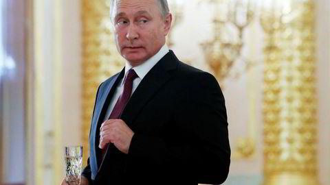 Dataangrep fra Russland, her ved president Vladimir Putin, skal være blant årsakene til at EU ønsker å ha en egen strategi for cybersikkerhet.