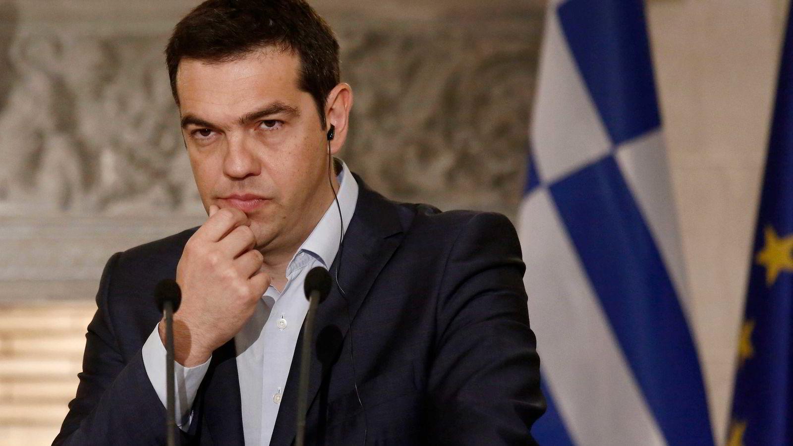 Alexis Tsipras, statsminister i Hellas, har nok en maratondag med møter foran seg torsdag. Foto: Kostas Tsipras/
