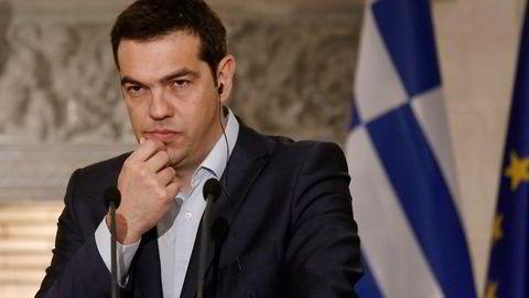 """Standard & Poor´s anser det som 50 prosent sannsynlig med """"grexit"""" for Hellas og statsminister Alexis Tsipras.  Foto: Kostas Tsipras/"""