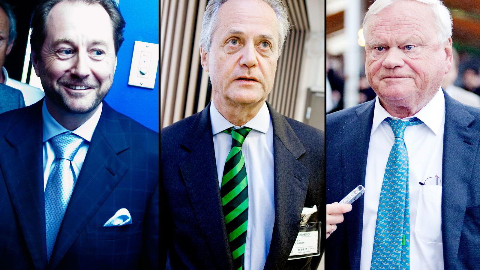 BRASILBREMS. Kjell Inge Røkke (fra venstre), Kristian Siem og John Fredriksen er alle eksponert mot det statlige brasilianske statsoljeselskapet Petrobras.