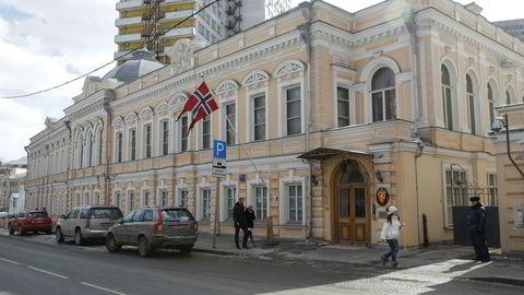 Den norske ambassaden i Moskva avbildet torsdag.