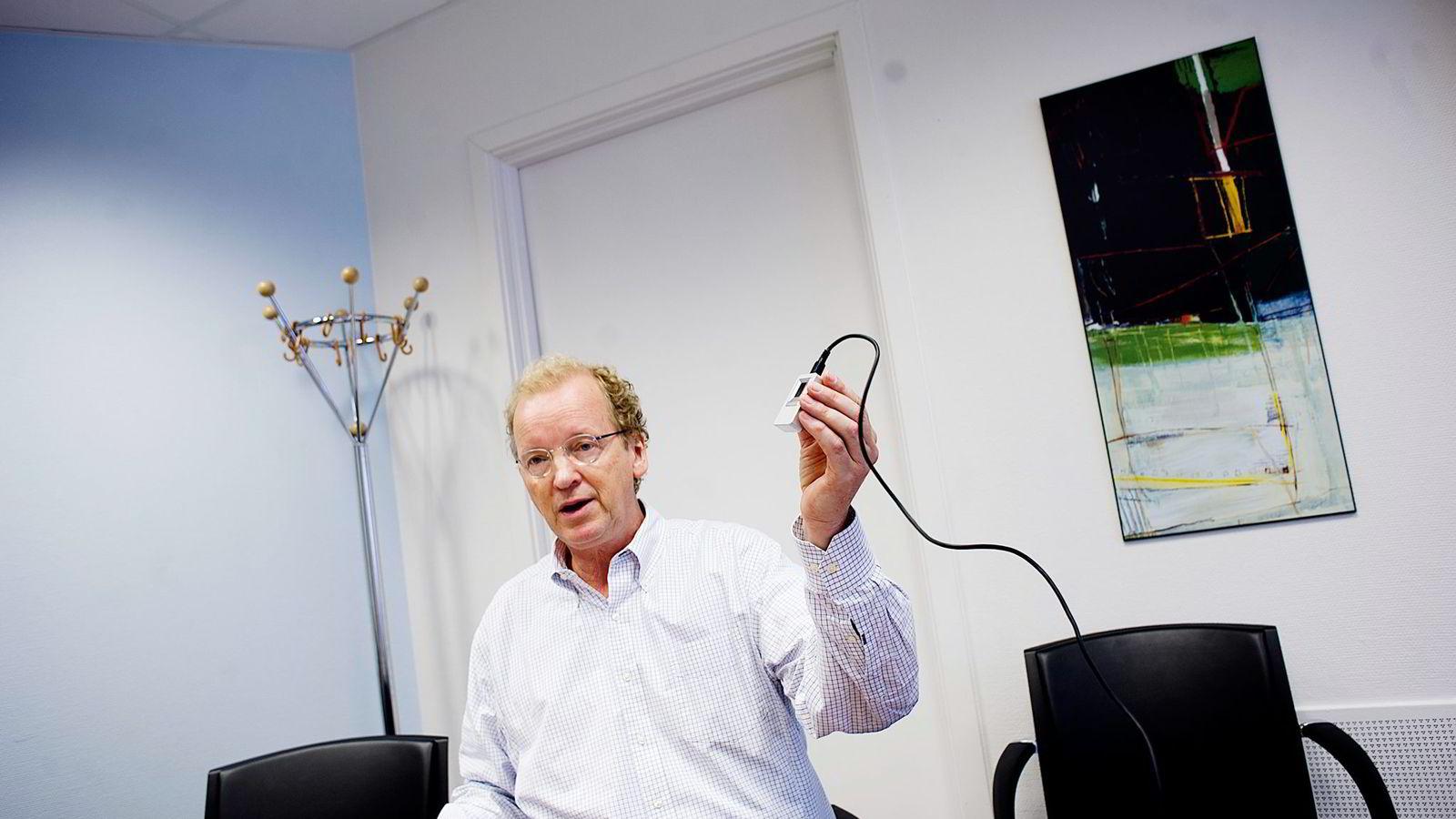 - Vi tenker ikke så mye på kursen i det daglige men har god tro på at dette skal gå veldig bra i tiden fremover, sier Tore Etholm-Idsøe, administrerende direktør i Next Biometrics.