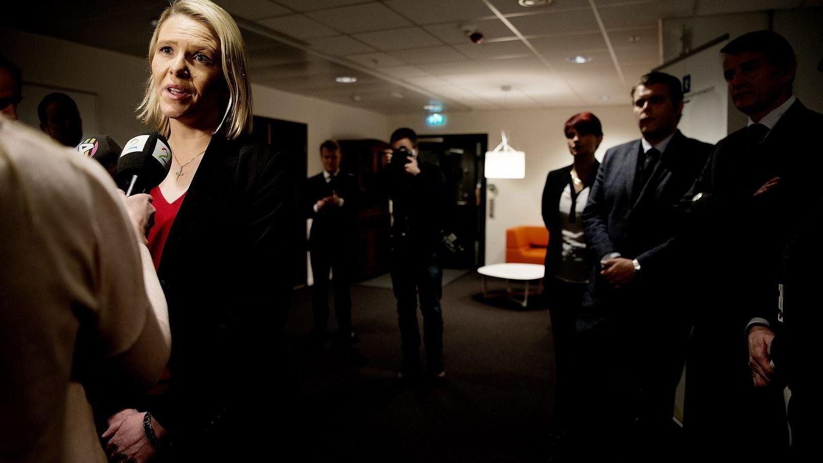 Sylvi Listhaug (FrP) blir innvandrings- og integreringsminister og overtar ansvarsområder fra justisminister Anders Anundsen og likestillingsminister Solveig Horne.