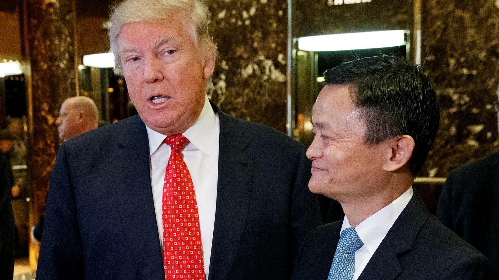 Aibabas styreformann Jack Ma lovte å skape en million arbeidsplasser i USA da han møtte Donald Trump før innsettelsen i fjor. Nå bryter han løftet på grunn av handelskrigen mellom USA og Kina