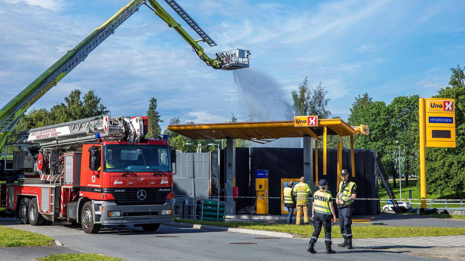 Forrige mandag eksploderte denne hydrogenstasjonen utenfor Sandvika.