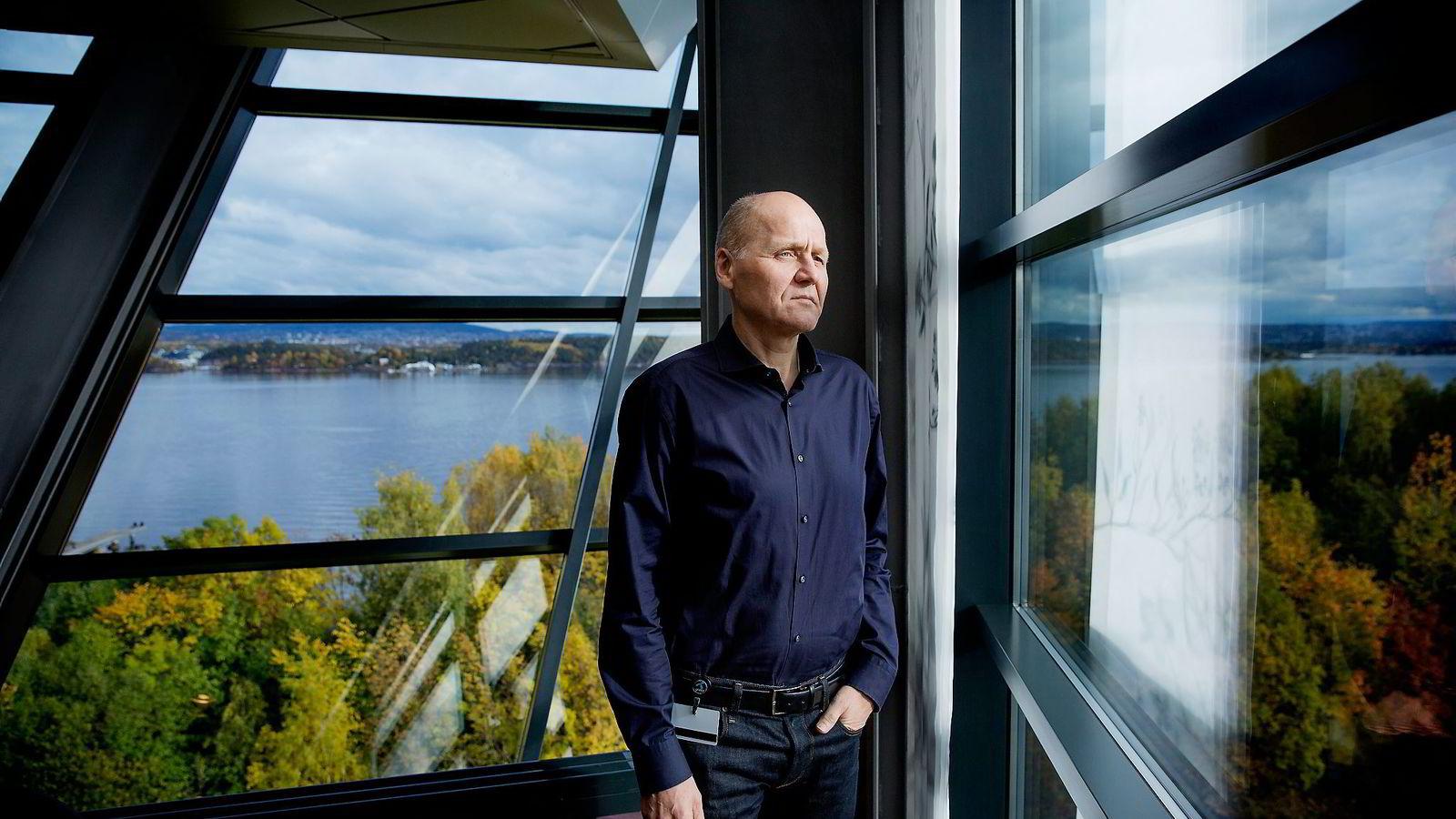 Sigve Brekke, konsernsjef i Telenor. Foto: Fredrik Bjerknes