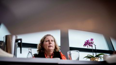Administrerende direktør Berit Svendsen i Telenor Norge får på vegne av selskapet kritikk av Nkom for å ikke følge et mobilforbud. Foto: Skjalg Bøhmer Vold