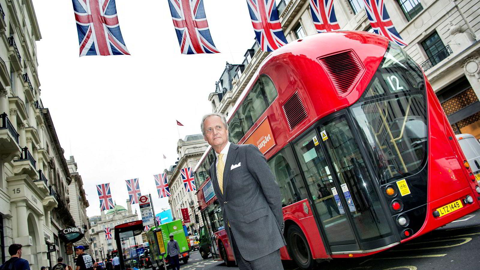 Kristian Siem, her fotografert i London etter brexit-avstemningen i 2016.
