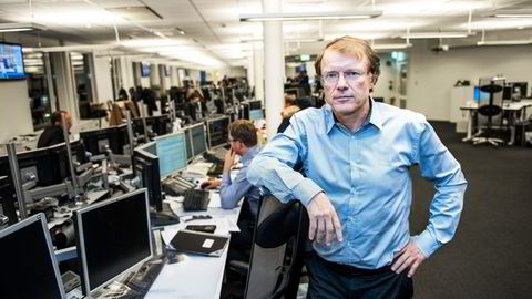 «MARGINALT PLUSS».Sjefstrateg Peter Hermanrud i Swedbank mener fallhøyden har økt i aksjemarkedet. Foto: Klaudia Lech