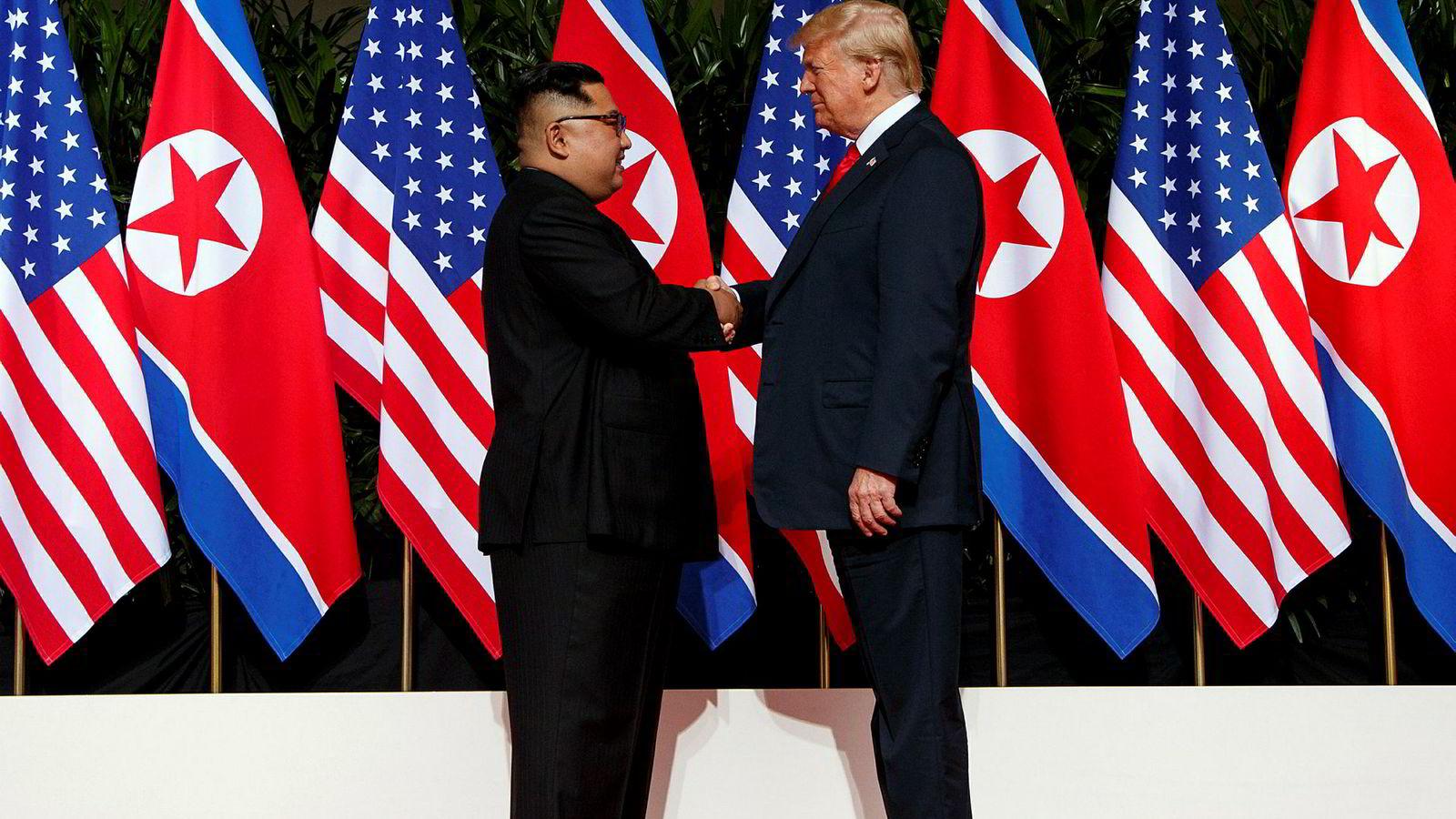 Da Nord-Koreas leder Kim Jong Un møtte president Donald Trump i Singapore i juni 2018.