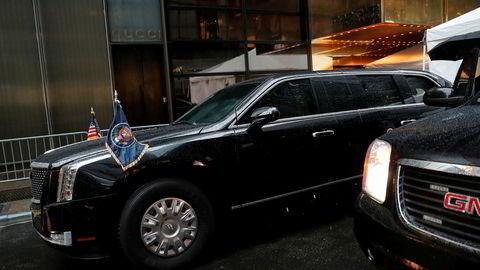 Donald Trump har en General Motors-laget Cadillac som sin presidentbil. Den blir neppe selvkjørende med det første.