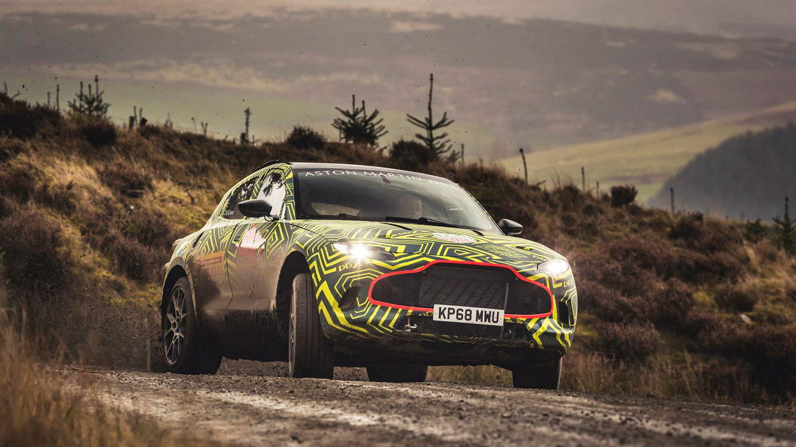 Aston Martin DBX blir sportsbilmerkets første suv.