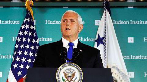 Uttalelsene visepresident Mike Pence kom med på Hudson Institute i Washington om at Kina bruker sin makt til å blande seg inn i amerikansk politikk, ble ikke tatt nådig opp av kineserne.