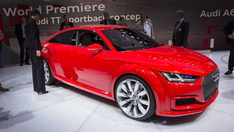 Audi TT Sportback concept i Paris. Foto: Embret Sæter