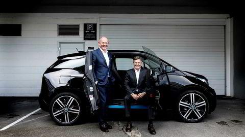 Knut Øgreid (til høyre) og John Arild Ertvaag startet med å investere 250.000 kroner hver. Nå kan de glise over å ha realisert den beste investeringen noensinne.