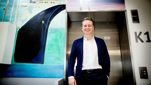 Administrerende direktør Kristian Monsen Røkke i Akastor. Selskapet legger frem resultater for andre kvartal 2017. Foto: Ida von Hanno Bast