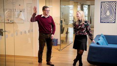 Norgessjef Kari Langvik Østhus og toppsjef Chris Elliott i Wellesley Petroleum forsikrer om at de ikke har fått dårlig klimasamvittighet av å ha funnet enda mer olje på norsk sokkel.