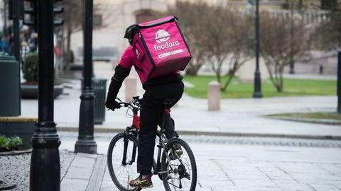 Foodora-syklister tas ut i streik.