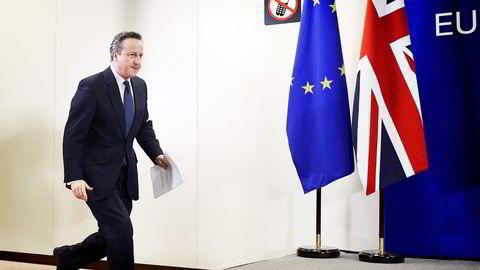 – Dette blir en av de viktigste beslutningene vi står overfor i vår levetid, sier statsministrer David Cameron om sommerens folkeavstemning om britisk EU-medlemskap. Foto: Dylan Martinez/Reuters/NTB Scanpix