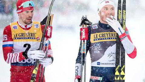 Langrennsløper Emil Iversen (27) (til høyre) er populær hos sponsorene etter den gode starten på sesongen. Rett før jul stilte han opp i en reklamekampanje for Intersport.