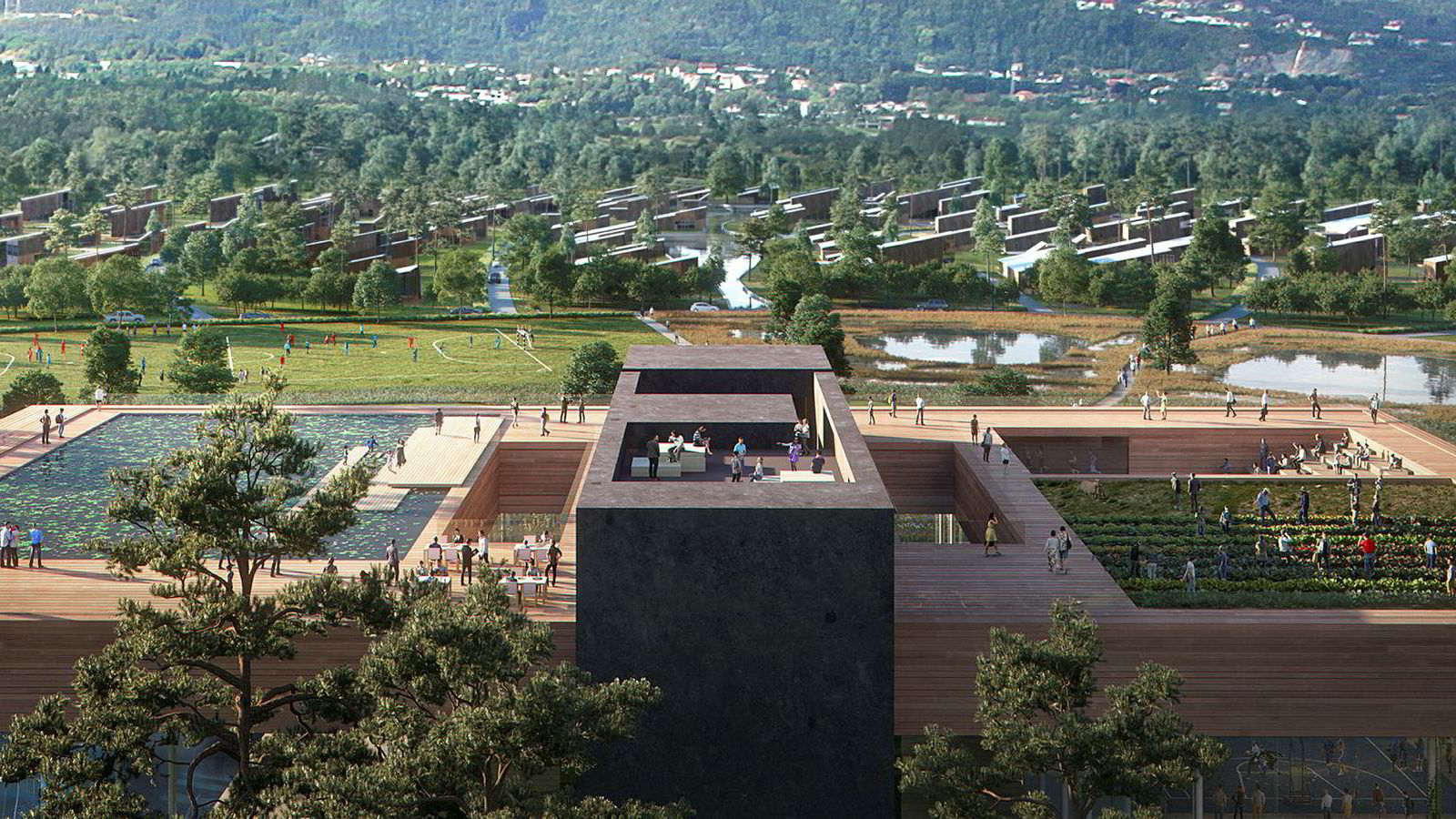 Gigantisk varmepumpe kan gi verdens første energipositive bydel