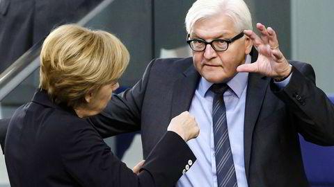 ETTERSPØR TILLIT. Tysklands utenriksminister Frank-Walter Steinmeier forventer mer av amerikanerne. Foto: Clemens Bilan, AFP/Scanpix