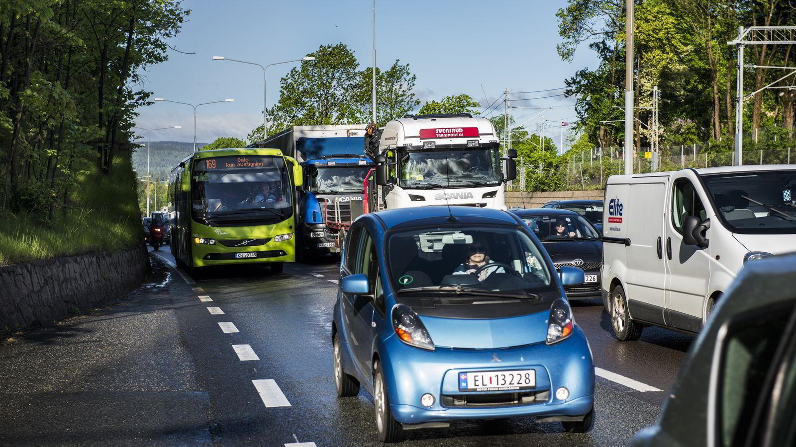 KAOS. Slik blir trafikken fremover. Foto: Klaudia lech