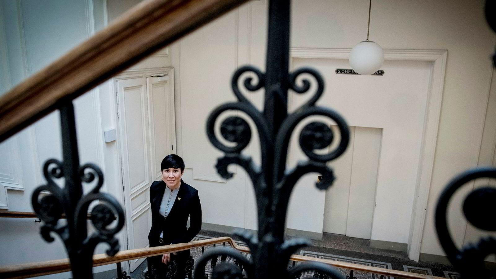 Utenriksminister Ine Marie Eriksen Søreide er lite synlig, synes artikkelforfatter.