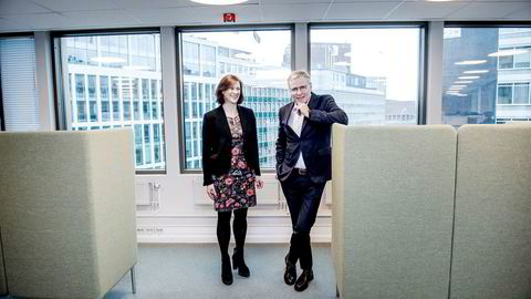 Administrerende direktør Per Høiby og styreleder Kari Holm Hejna i First House kjøper opp konsulentselskap. Foto: Gorm K. Gaare