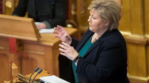 Statsminister Erna Solberg (H) måtte svare på kritiske spørsmål om de høye strømprisene i onsdagens spørretime.