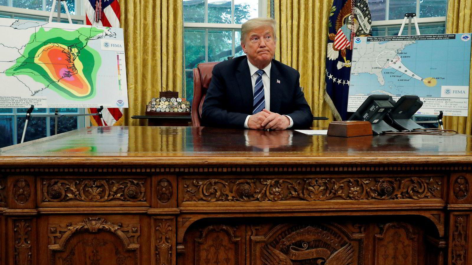 Det etterforskes om et brev sendt til president Donald Trump kan ha inneholdt gift.