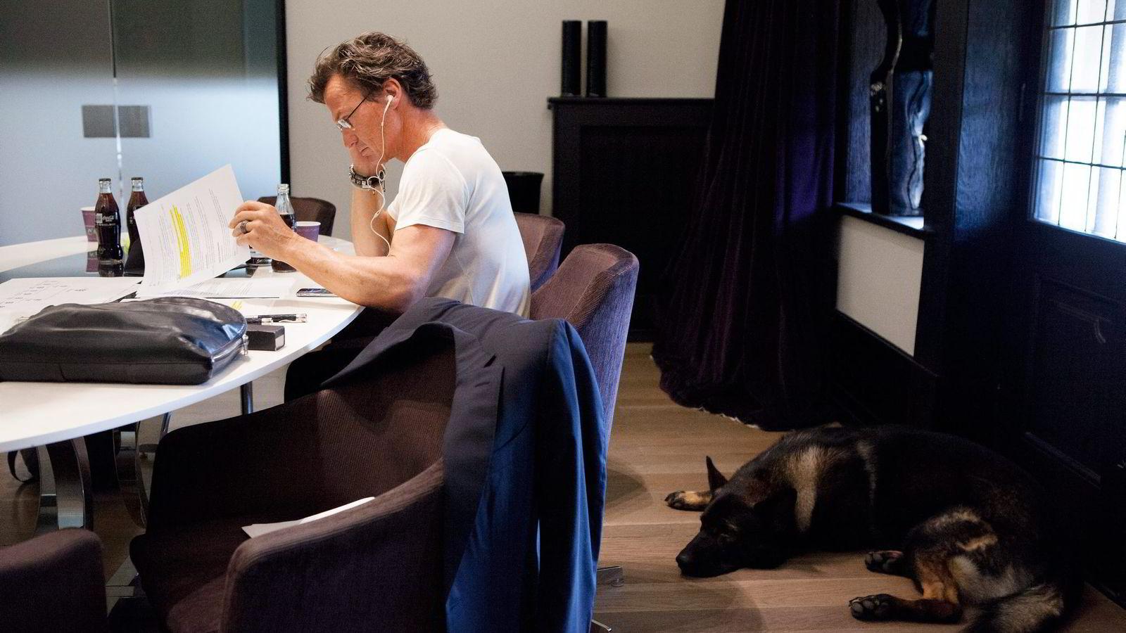 Petter Stordalen i Choice hovedkontor Fredrik Stangsgate, Oslo. Fotografert under intervju med DN ifm omstrukturering av egne selskaper. Foto: