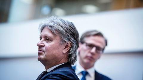 Nordea-sjef Casper von Koskull. Torsten Hagen Jørgensen, visekonsernsjef i Nordea (til høyre) Foto: Gunnar Blöndal
