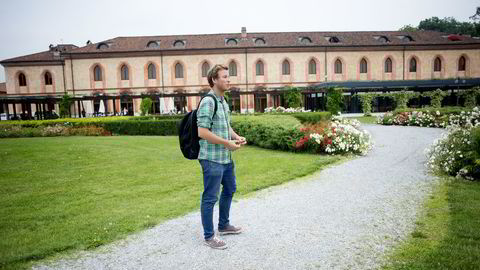 CAND. MAT. På et universitet i en gammel borggård i en ørliten italensk by studerer Jonas Zackrisson Torp (24) og 600 andre for å bli matvitere. Foto: Mikaela Berg